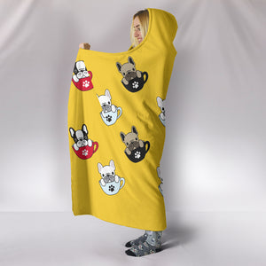 Frenchie Cups - French Bulldog Hooded Blanket - frenchie Shop