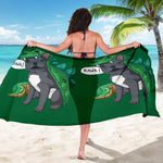 Funny T-Rex Frenchie - French Bulldog Sarong - frenchie Shop