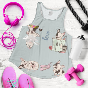 Playing Frenchie - French Bulldog Tank Top Women - frenchie Shop