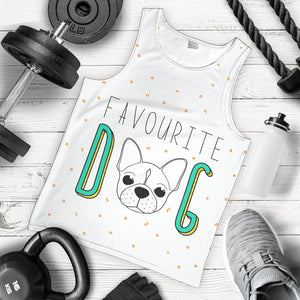Funny Favourite Frenchie - French Bulldog Tank Top Men - frenchie Shop