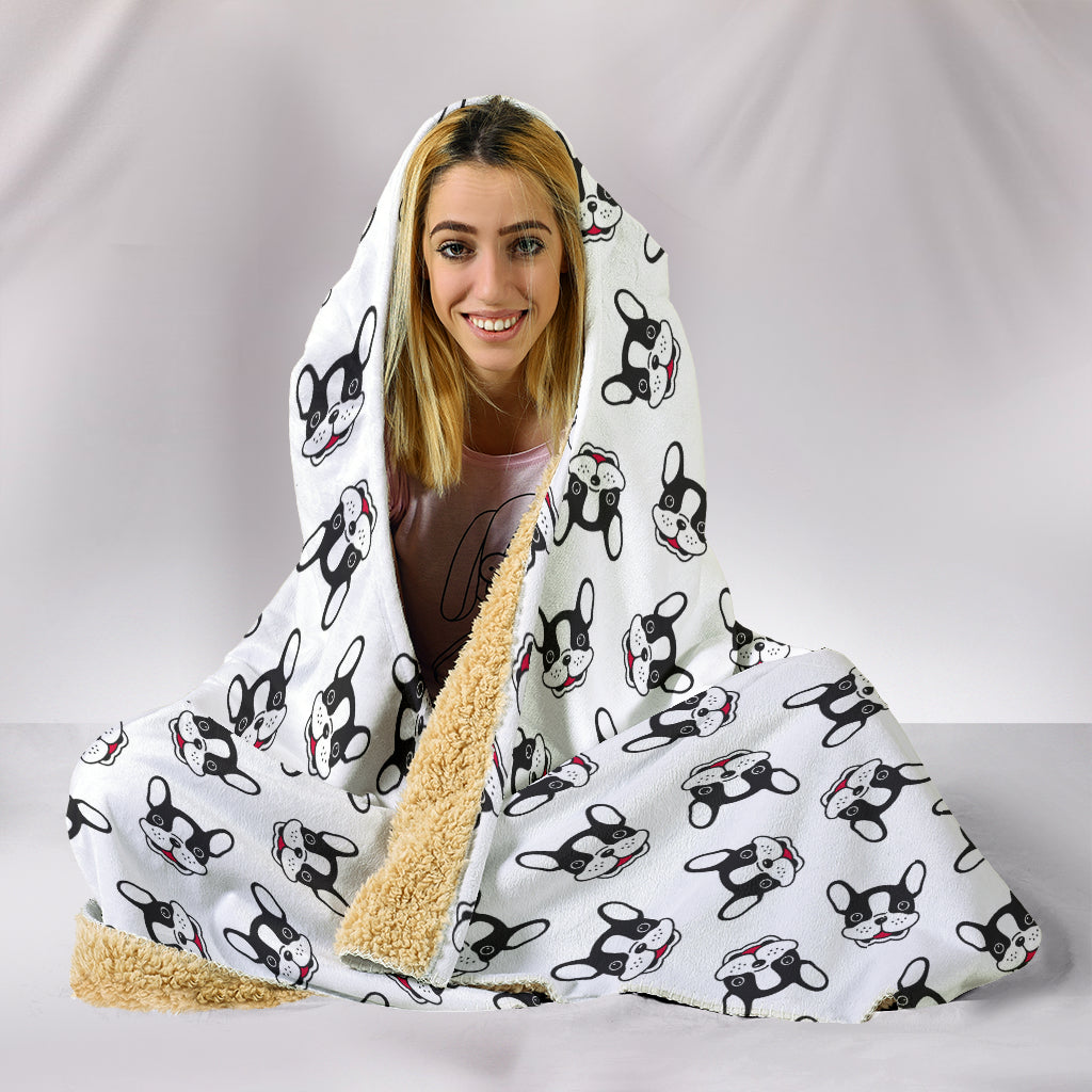 Ace - French Bulldog Hooded Blanket - Frenchie Bulldog Shop