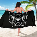 Funny Geometry Frenchie - French Bulldog Sarong - frenchie Shop