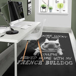 Funny Lucky Frenchie - French Bulldog Rug - frenchie Shop