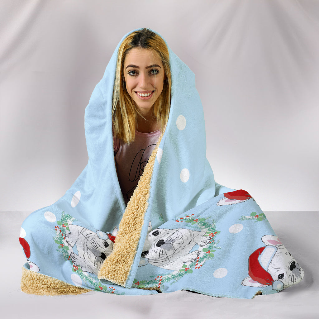 Frenchie Santa - French Bulldog Hooded Blanket - frenchie Shop