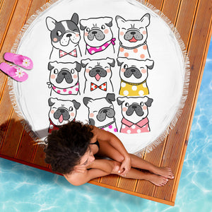 Mode of Frenchie - French Bulldog Beach Blanket