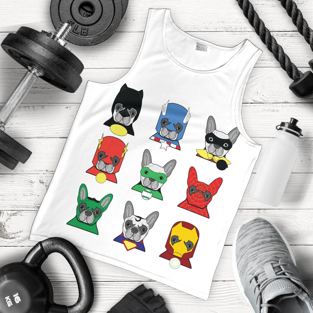 Funny Heroes Frenchie - French Bulldog Tank Top Men - frenchie Shop