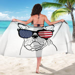 Funny Sunglasses Frenchie - French Bulldog Sarong - frenchie Shop
