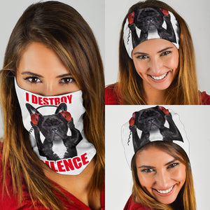 I Destroy Silence - French Bulldog Bandana - Frenchie Bulldog Shop