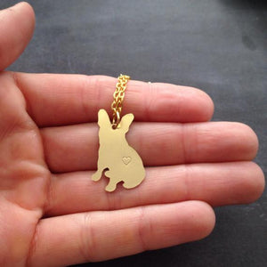 My Frenchie  Necklace neck