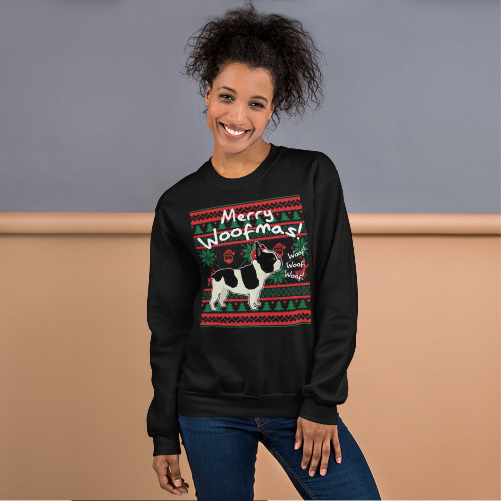 Merry Woofmas - Unisex Sweatshirt - Frenchie Bulldog Shop