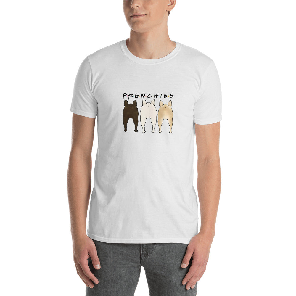 Frenchies butt - T-Shirt for men and women - frenchie Shop