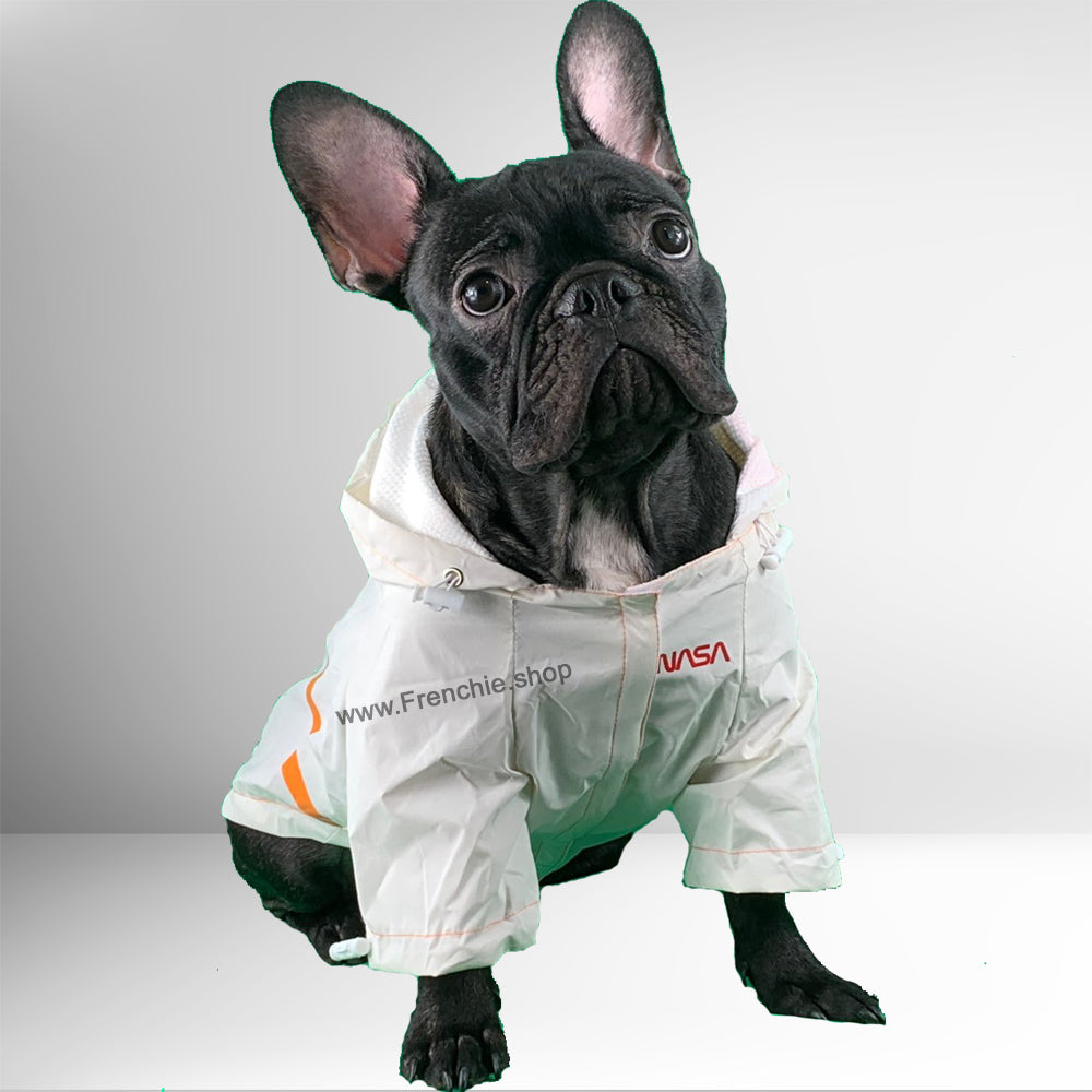 Astronaut Raincoat for French Bulldog (WS213) - Frenchie Bulldog Shop