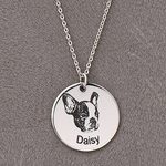 Custom pet Necklace - Frenchie Bulldog Shop