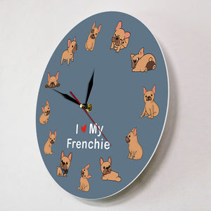 I Love My Frenchie - Wall Clock - Frenchie Bulldog Shop