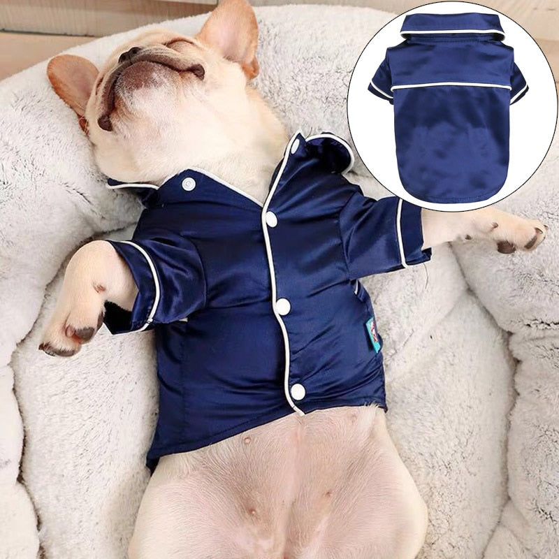 Silk Pajamas Shirt for Frenchies (WS105)