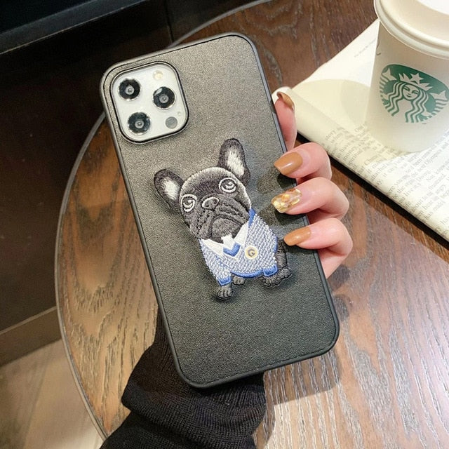 3D French Bulldog Leather iPhone Cases - Frenchie Bulldog Shop