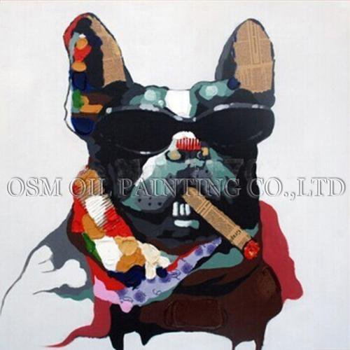 Hand painted canvas - frenchie Shop