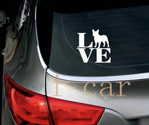 I love Frenchies - Stickers for Cars