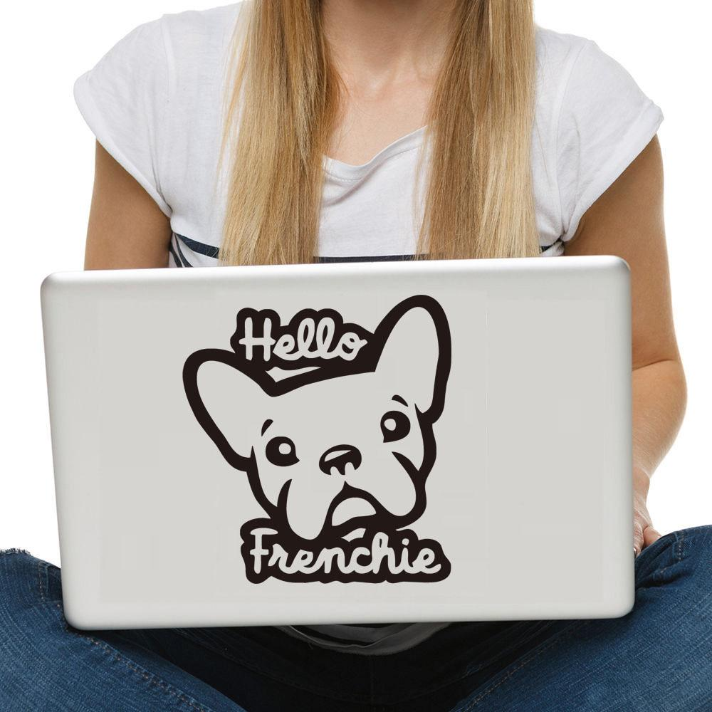 Hello Frenchie - Stickers for Laptop