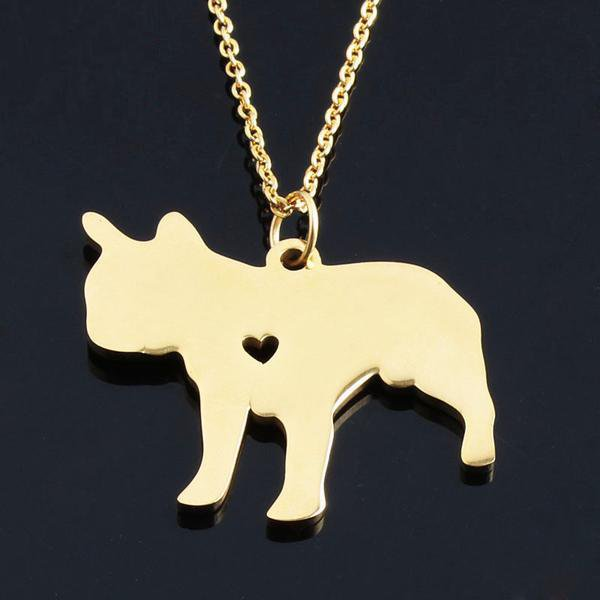 French Bulldog Gold  Necklaces - frenchie Shop