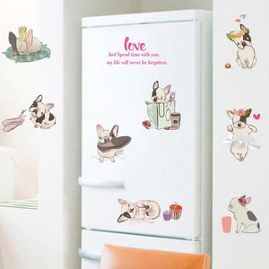 Lovely french bulldog - wall stickers