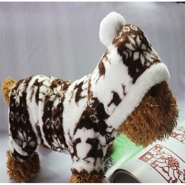 Christmas Time - Snowflake Soft Warm Hoodie for French Bulldog (CS023) - Frenchie Bulldog Shop