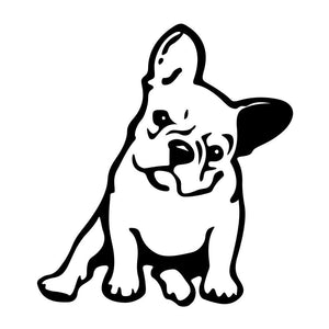 My Cute French bulldog Sticker