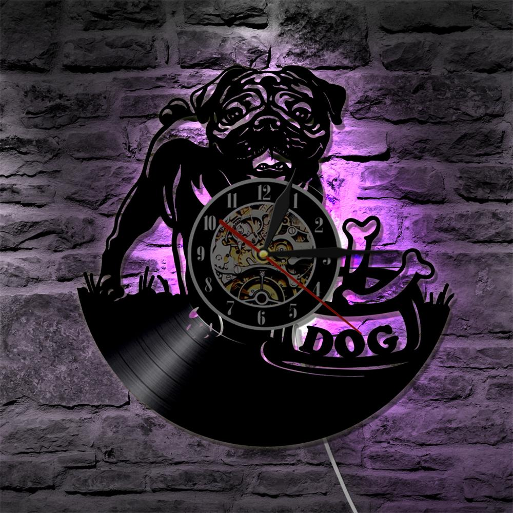 Cute Pug - Wall Clock - Frenchie Bulldog Shop
