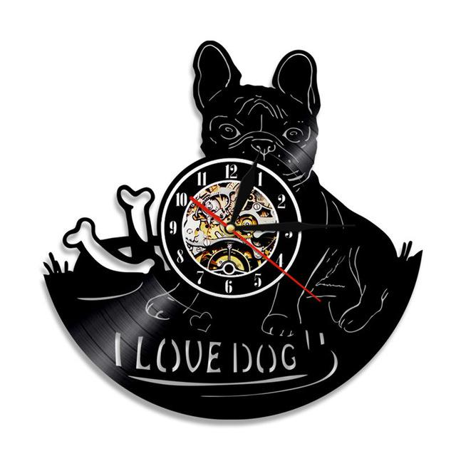 I Love Dog - Wall Clock - frenchie Shop
