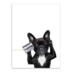 Funny Frenchie - Canvas (without Frame) - frenchie Shop