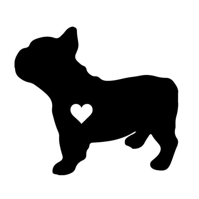 i love French Bulldog - Decals for Car