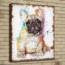 Brown French Bulldog - Canvas Painting