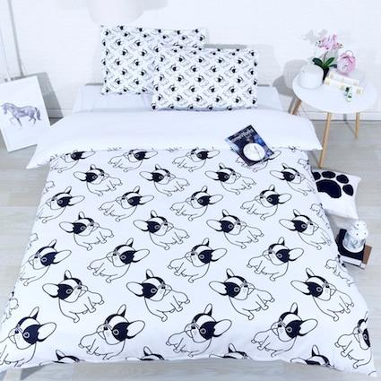 Black and White Frenchies - Bed Sheets - Frenchie Bulldog Shop