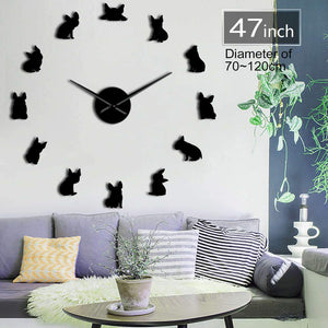 The Frenchie Clock - French Bulldog Giant Wall Clock