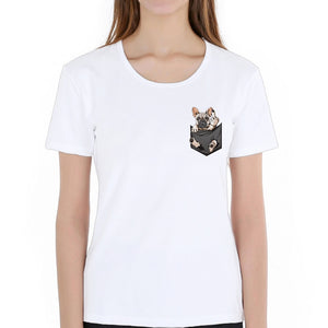 FU Pocket T shirt Funny for Women - frenchie Shop