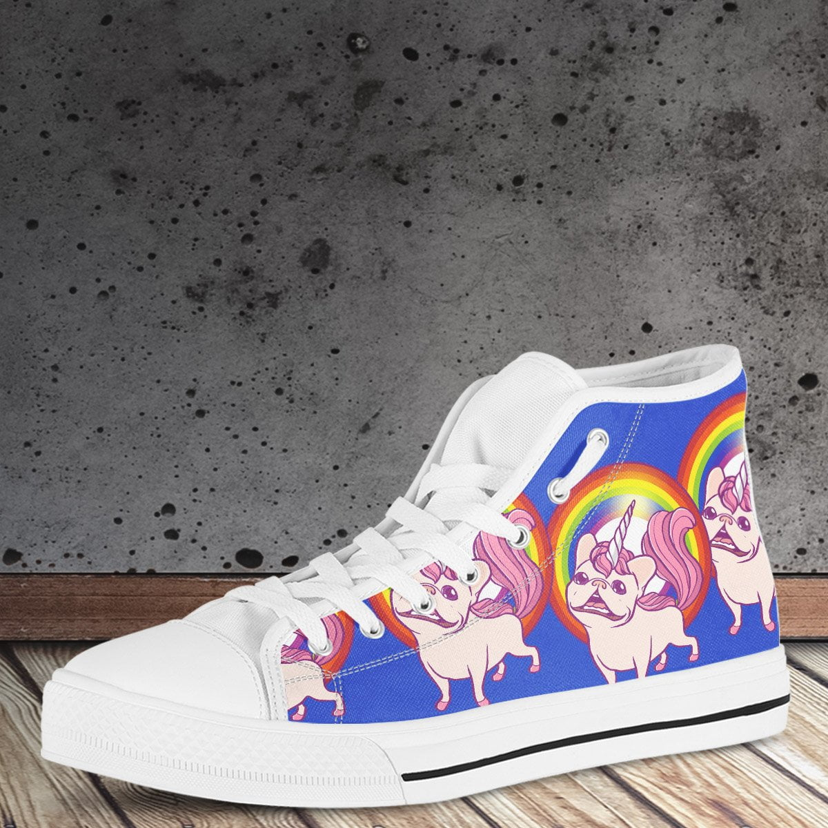 High Top Shoe - Unicorne Frenchie - frenchie Shop