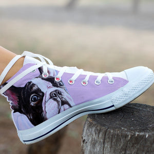 High Top Canvas Shoe - The cute