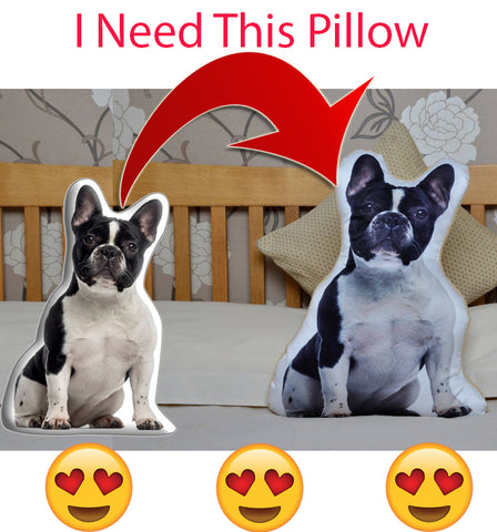 Custom 3D Frenchie Pillow - frenchie Shop