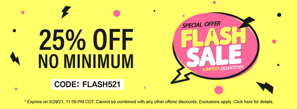Flash Sale End of May 21