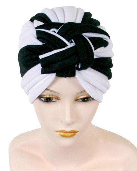 Ribbed Turban with Braid