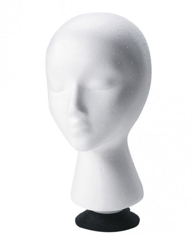 Styrofoam Head with Suction Cup