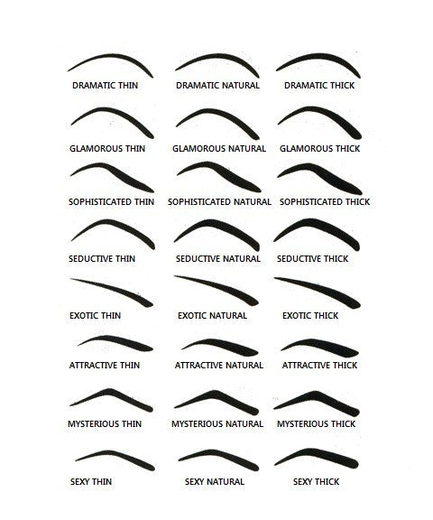 Irresistible image for free printable eyebrow stencils pdf