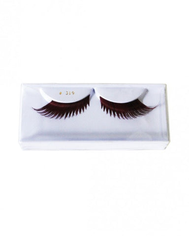 Burgandy Feathered False Eyelashes