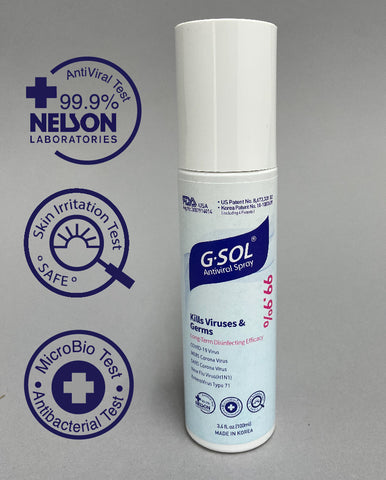G-Sol Antiviral Spray front