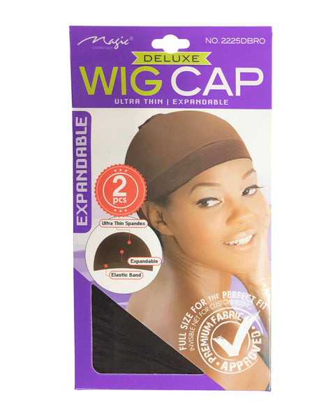 Deluxe Wig Cap 2 Pcs | Dark Brown