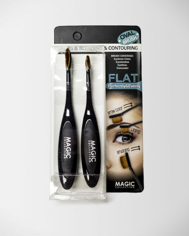Oval Blending & Contouring Brush Flat 2 Pcs