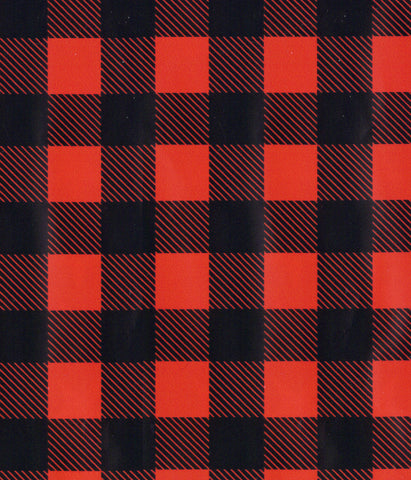 Buffalo Plaid HTV w/carrier 12x15