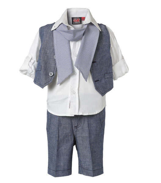 Baby Boys 5 Pieces Christening Suit Set