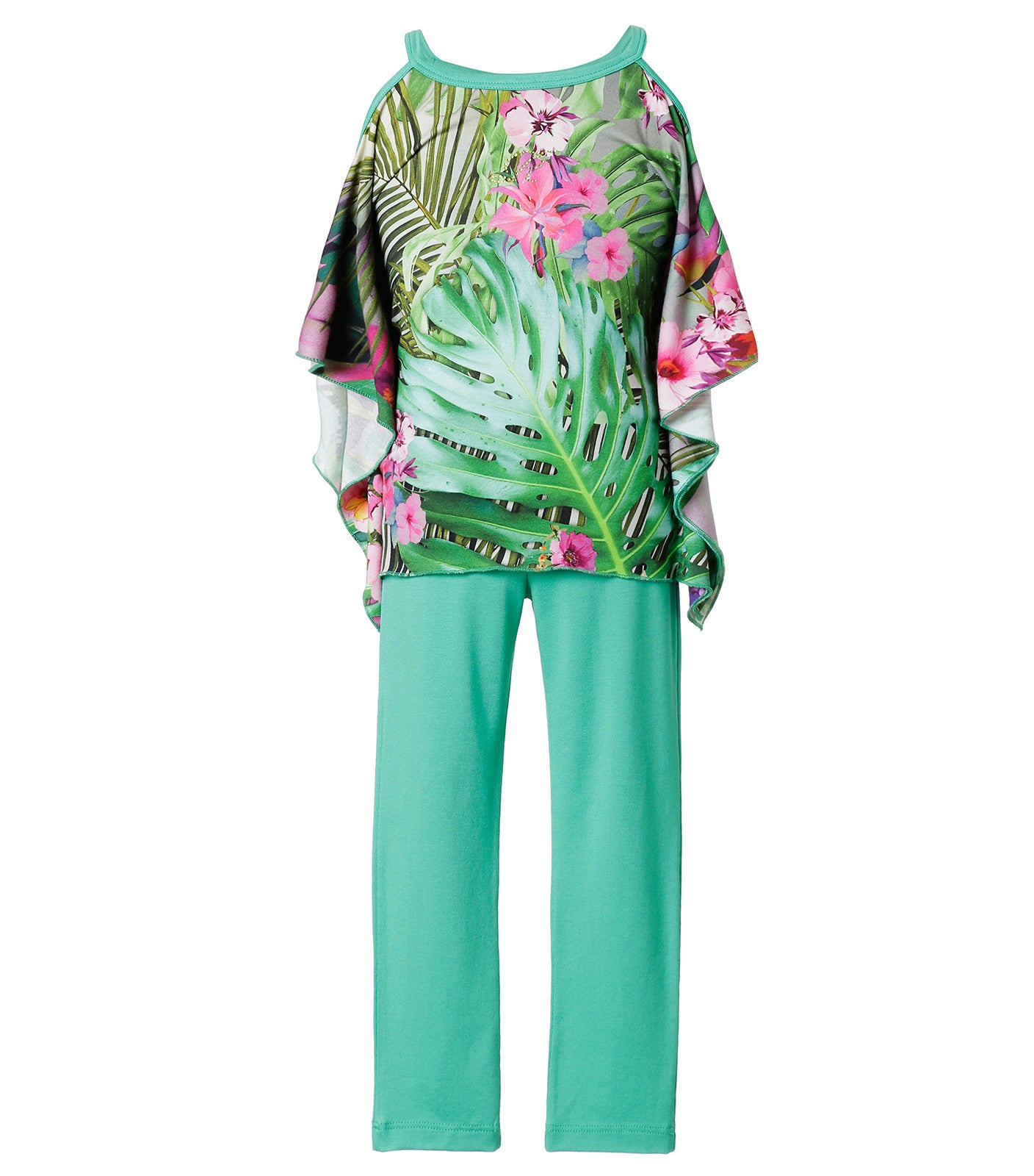 tropical blouse in green for girls