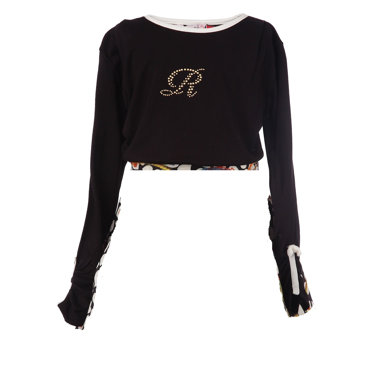 Girl Long Sleeve blouse in black